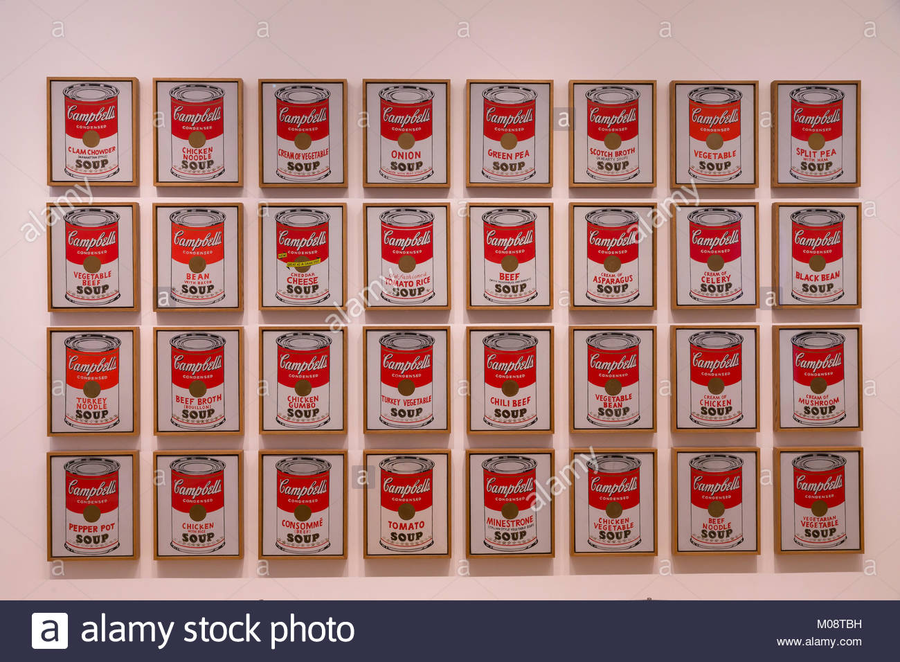 Campbells soup cans stock photos campbells soup cans for Barattoli di zuppa campbell s