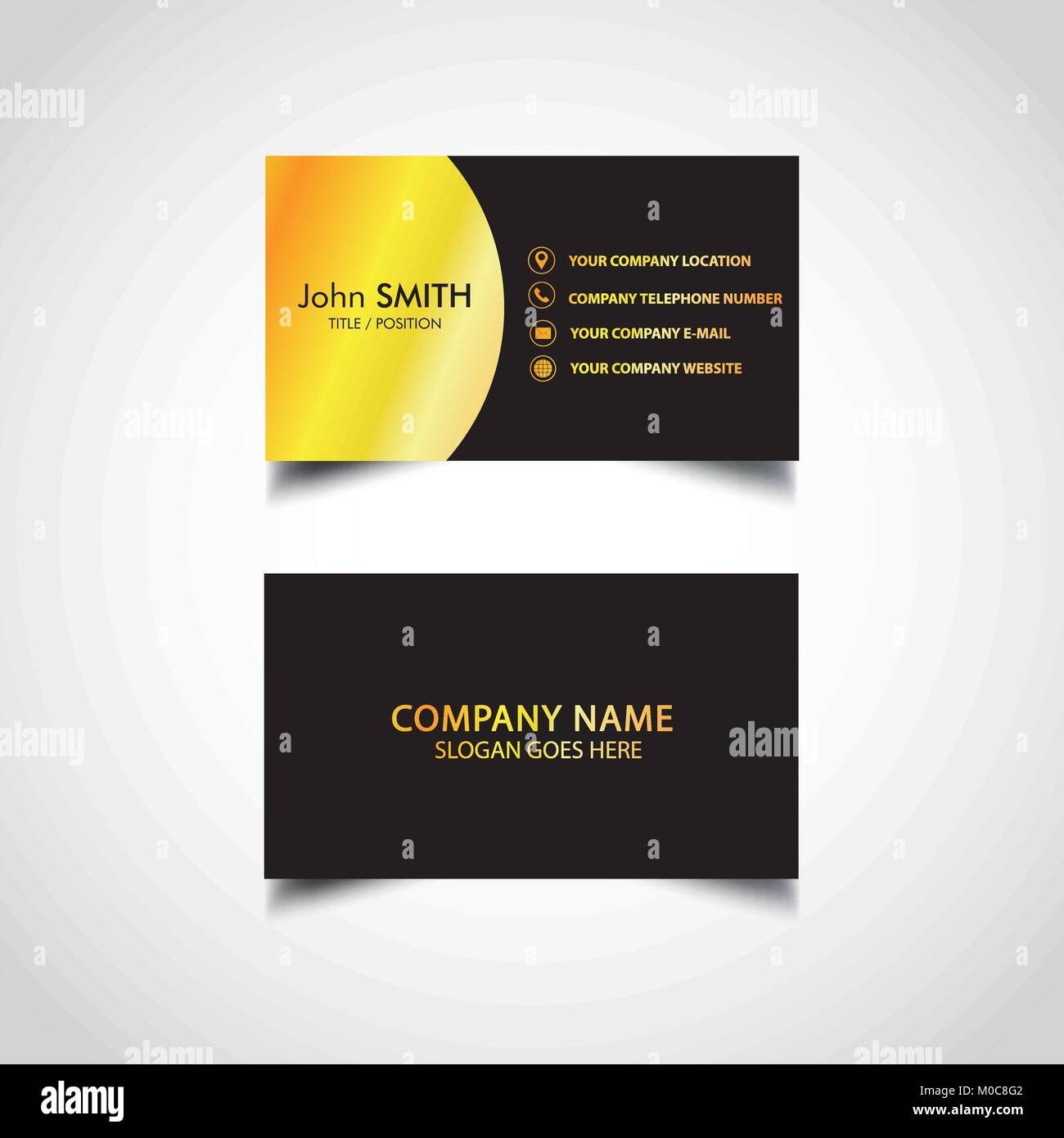 Golden business card template vector illustration eps file stock golden business card template vector illustration eps file friedricerecipe Gallery