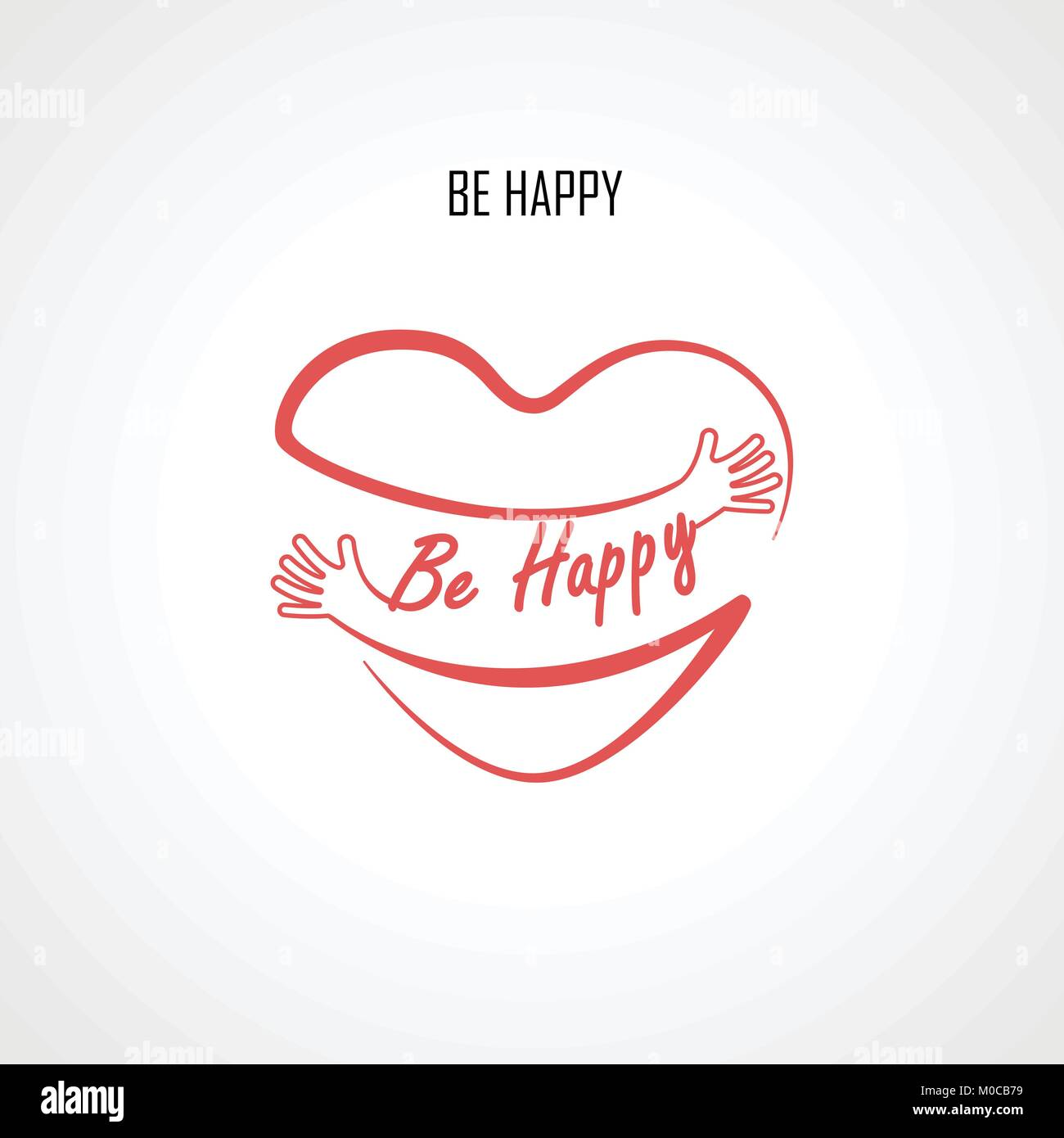 Be happy typographical design elements and red heart shape with be happy typographical design elements and red heart shape with hand embracegs and love yourself signhealth and heart care iconhappy valentines buycottarizona