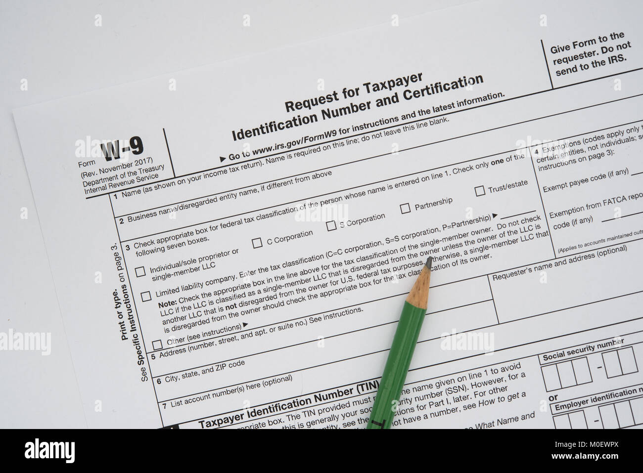 W9 stock photos w9 stock images alamy a us form w 9 request for taxpayer identification number and certification with falaconquin