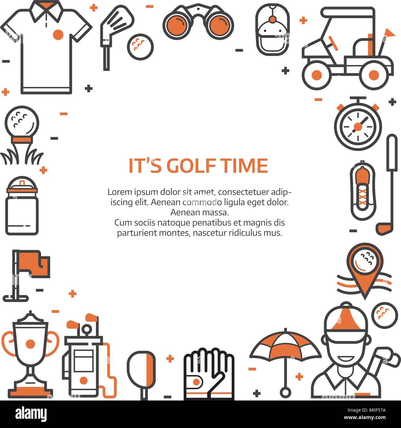 golf club card or invitation template stock vector art