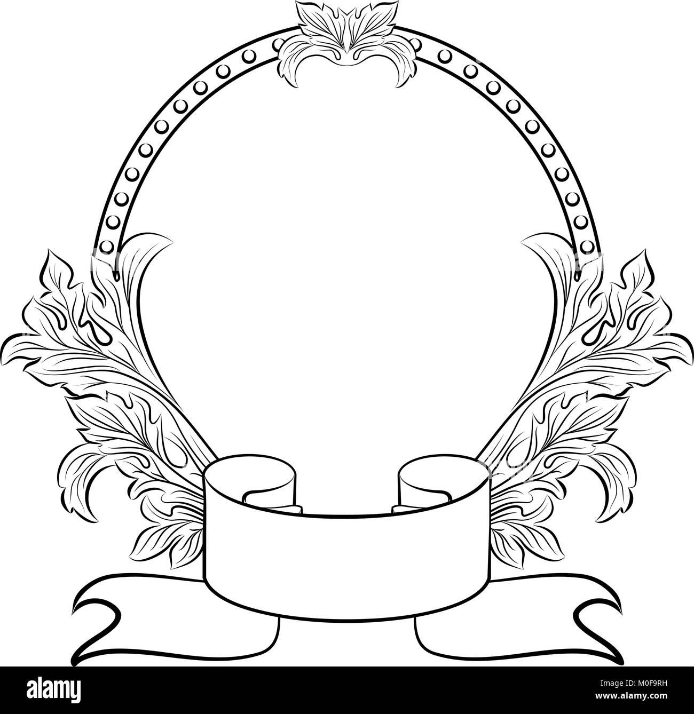 vintage oval frame Stock Vector Art & Illustration, Vector Image ...