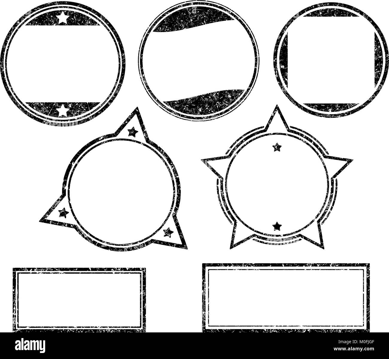set of grunge rubber stamps templates stock vector art