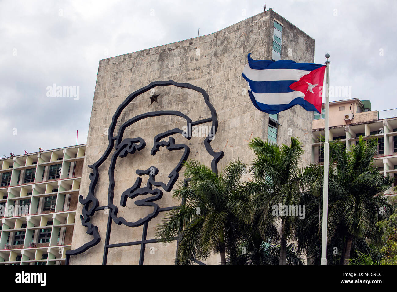 Cuba communist flag havana stock photos cuba communist for Ministerio del interior