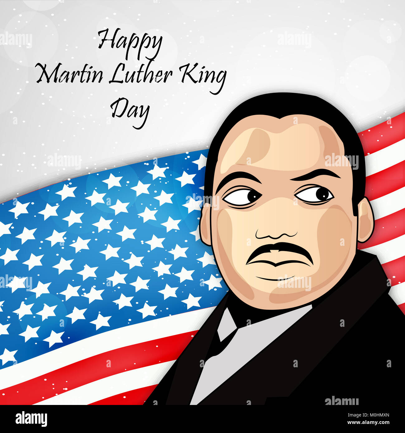 Illustration Of Martin Luther King Day Background Stock Photo