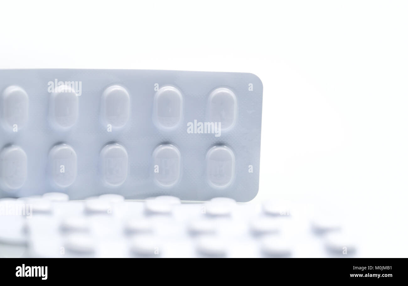 Atenolol stock photos atenolol stock images alamy macro shot detail of tablets pill in white blister pack for light resistance packaging isolated on biocorpaavc