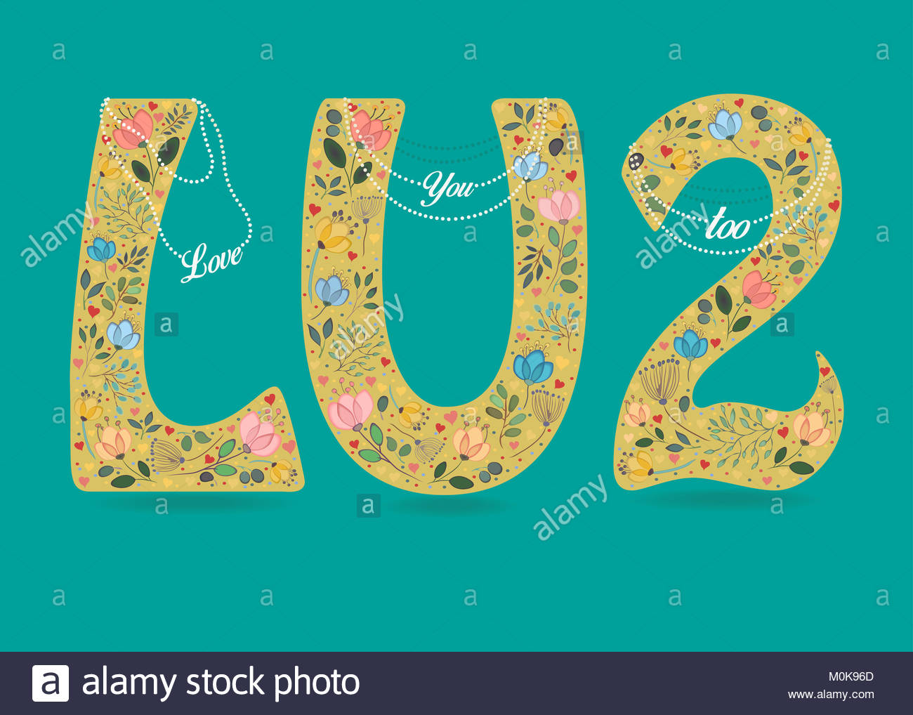 Small number 2 symbol image collections symbol and sign ideas love you too yellow symbols l u and 2 country floral decor yellow symbols l u and 2 buycottarizona