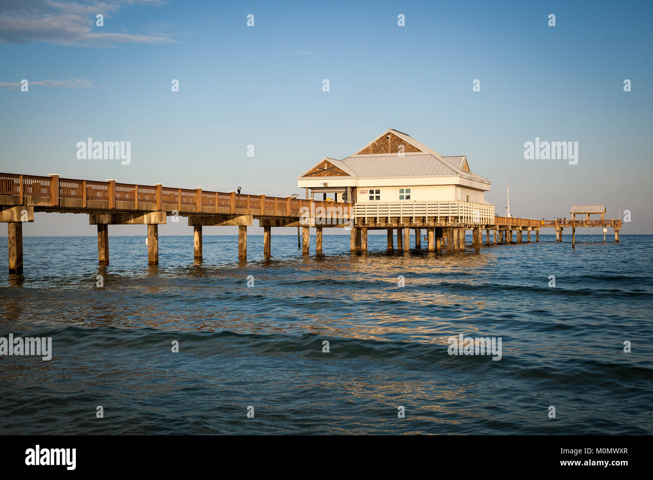 Fishing pier structure stock photos fishing pier for Clearwater beach fishing