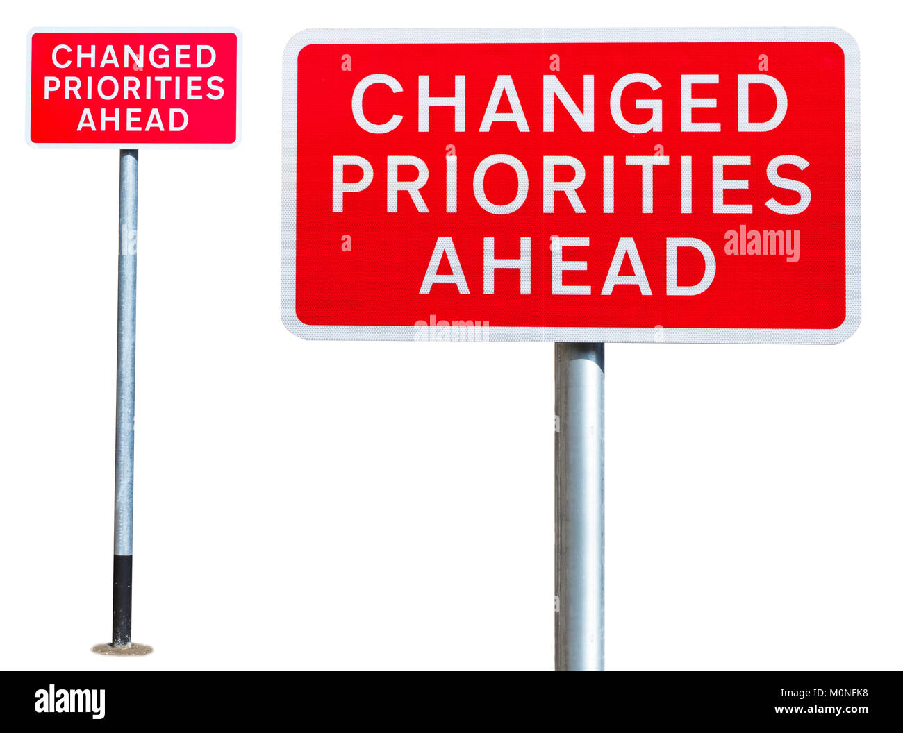 Road signs cut out stock images pictures alamy set of 2 isolated road signs changed priorities ahead stock image biocorpaavc Choice Image