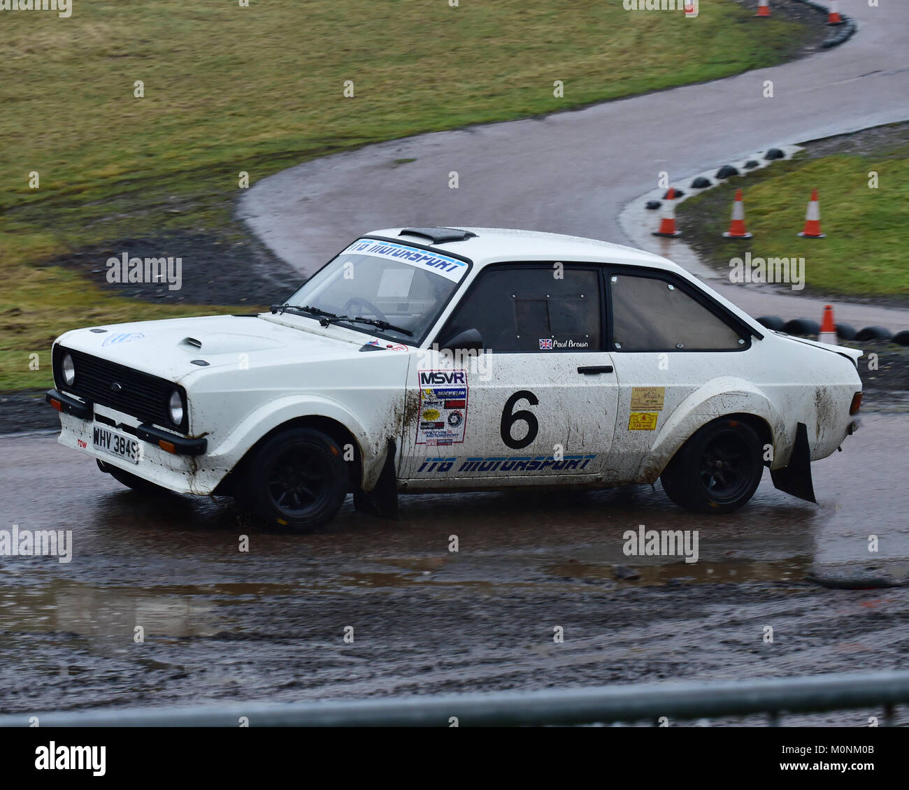 Stephen Beck Paul Brown Ford Escort Mk2 Mgj Rally Stages Stock