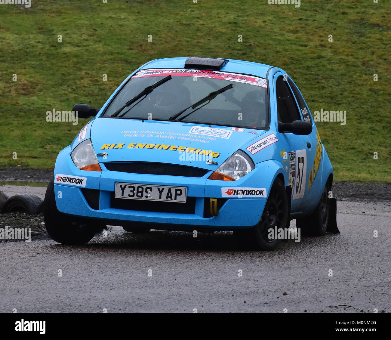 Aaron Rix Rob Cook Ford Ka Mgj Rally Stages Chelmsford Motor Club Brands Hatch Saturday Th January  Msv Circuit Rally Championship Ms
