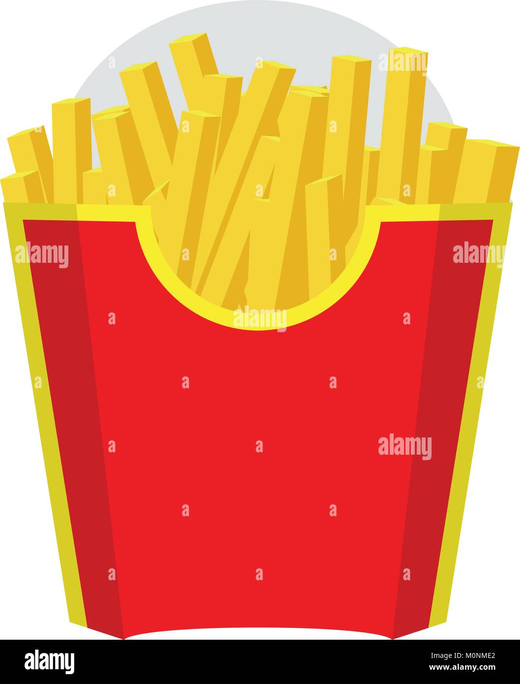 Empty Packaging Box For French Fries Fast Food Icon Red Color Design Vector With Flat And Solid