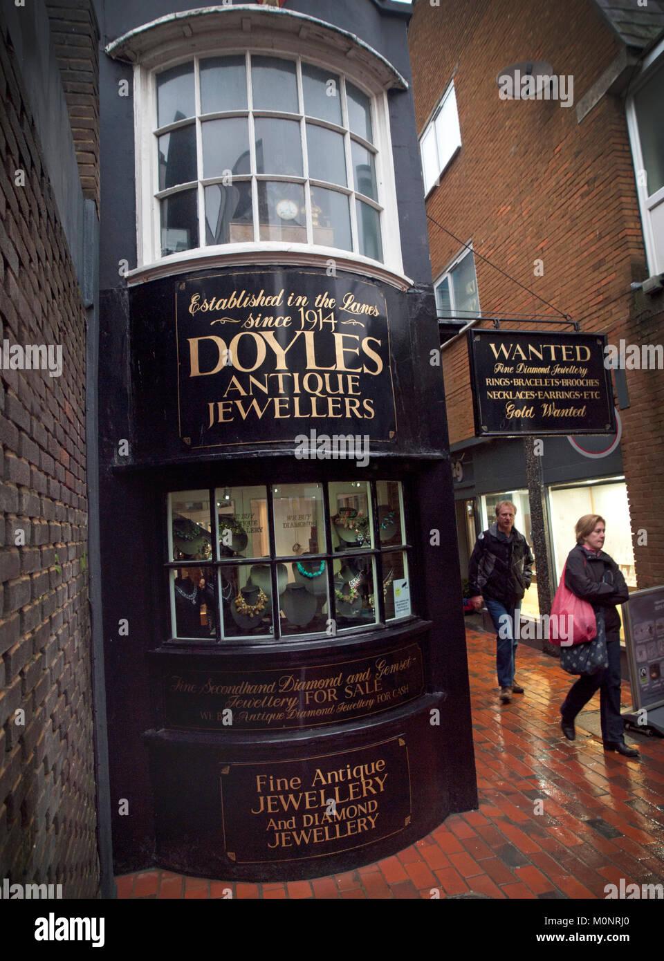 Doyles jewellery shop in the Lanes, Brighton Stock Photo