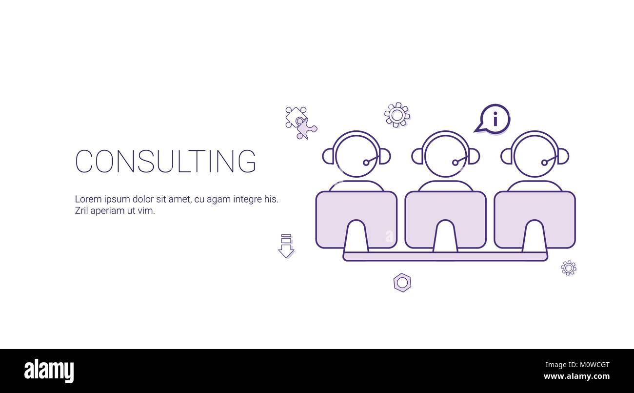 Technology Consulting Banners Pink Purple Banners