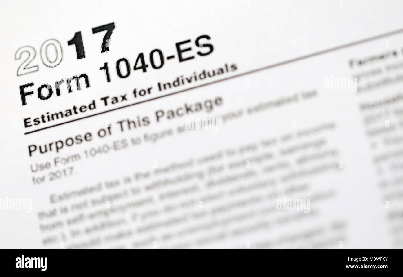 United States Tax Forms For The Irs Stock Photo 172664799 Alamy