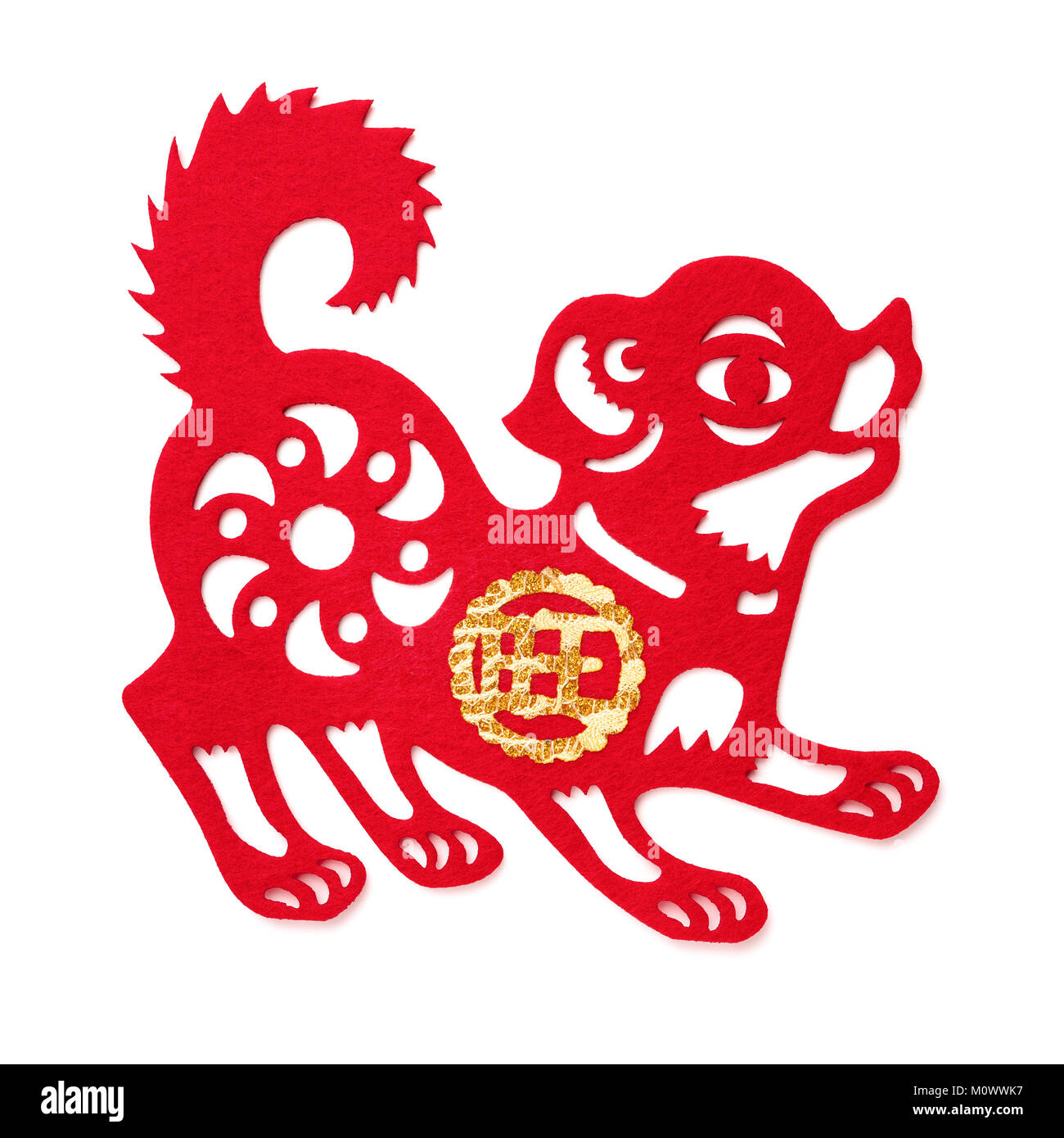 Chinese zodiac sign dog symbol of new year on the eastern non woven fabric dog as a symbol of chinese new year of the dog 2018 buycottarizona