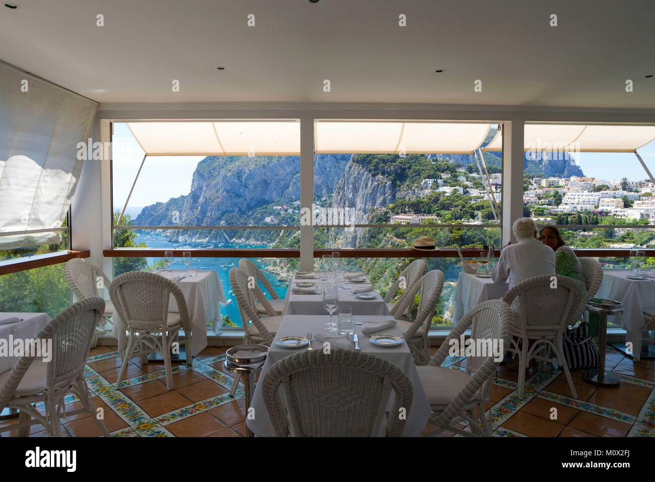 Italy,Campania,bay of Naples,Capri,La Terrazza Brunella restaurant ...
