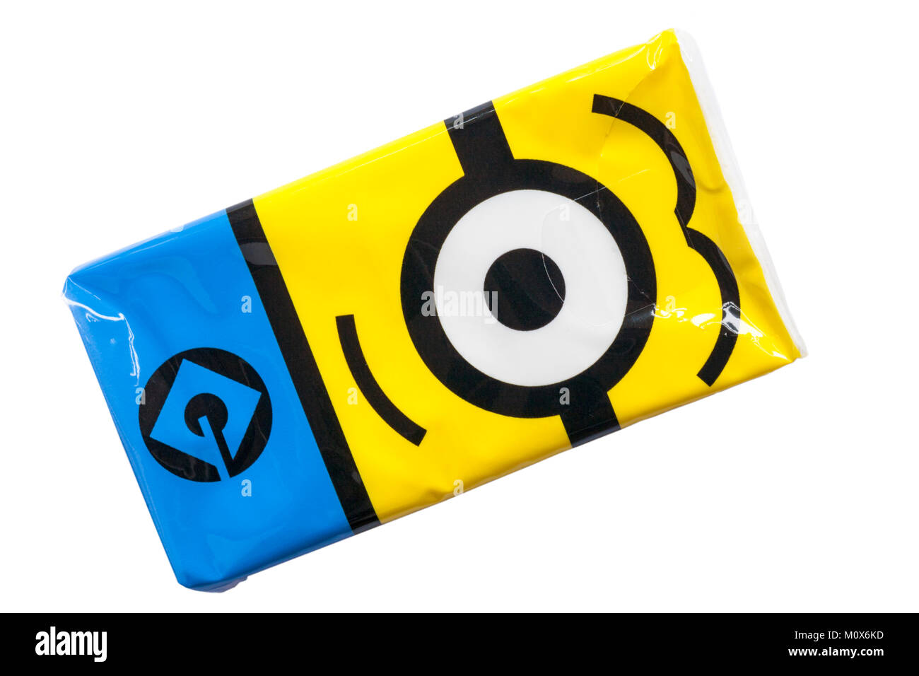 Pack Of Despicable Me Minion Made 8 X 3ply Plain White Tissues Stock