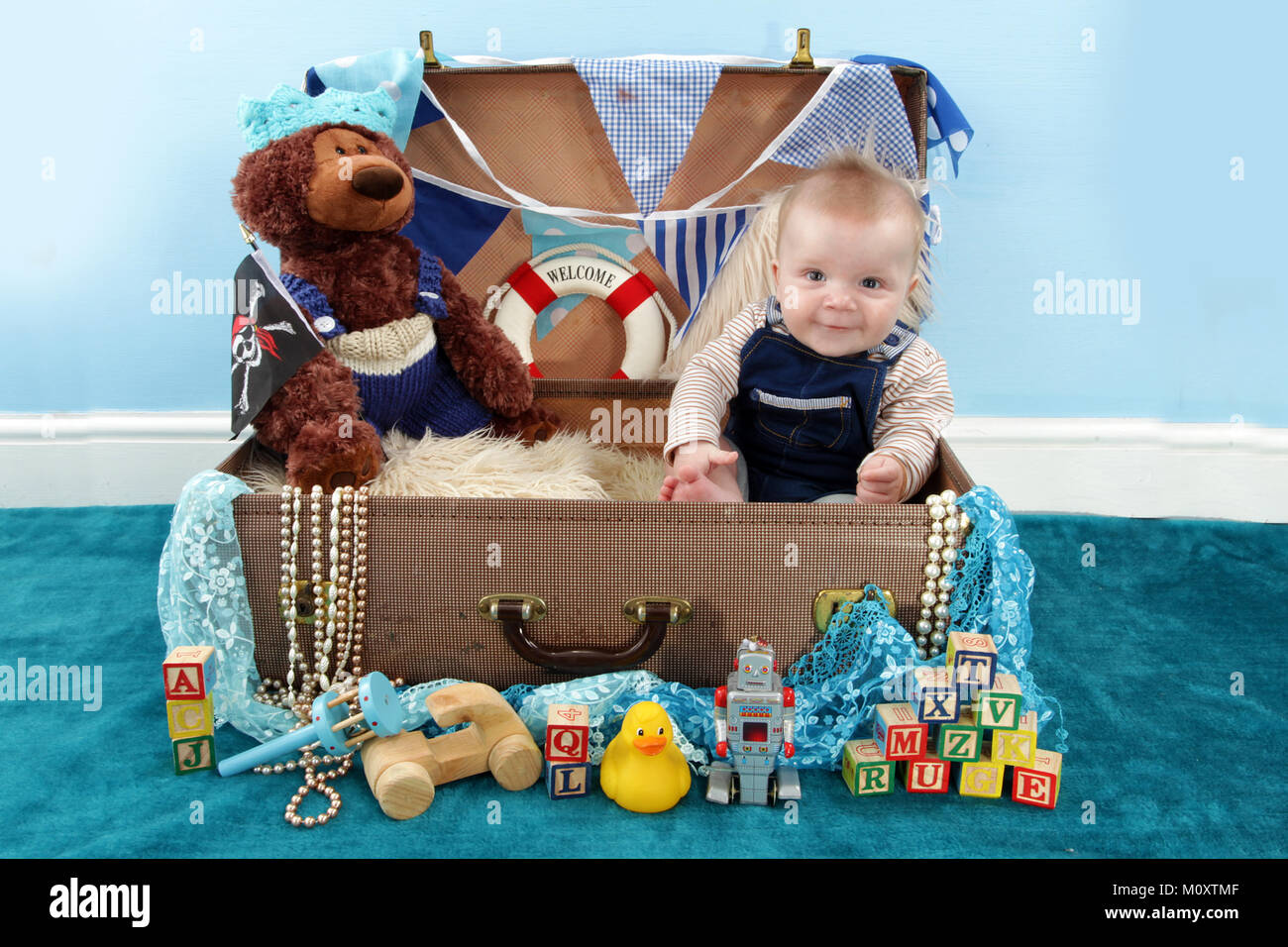 5 Month Old Boy Playing With Toys In Nursery Stock Photo 172693823
