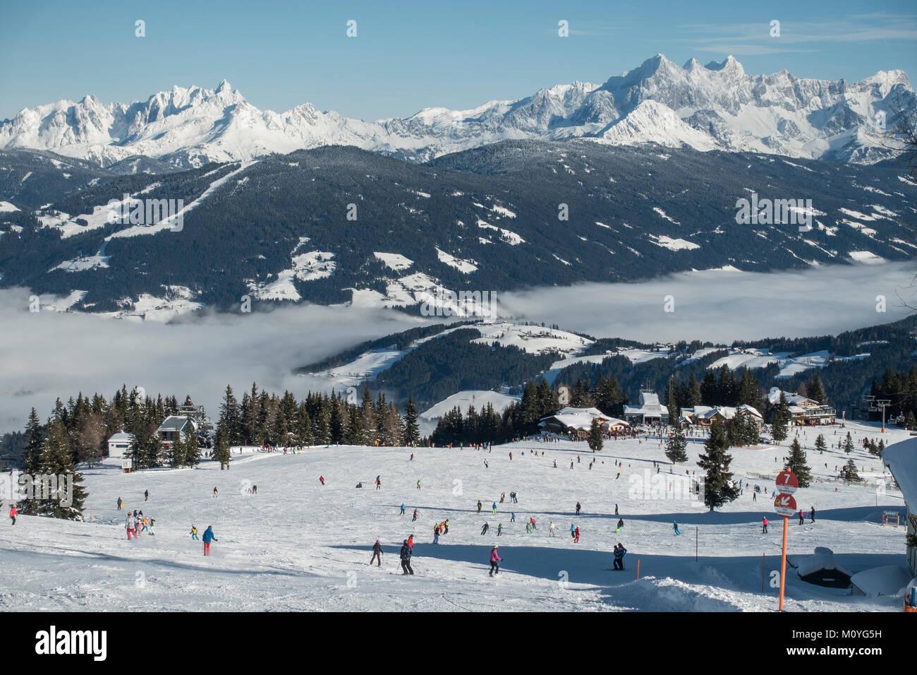 Ski Slope At The Griesenkareck1991mregion Amadebehind Dachstein Massifmunicipality FlachauSalzburger Land