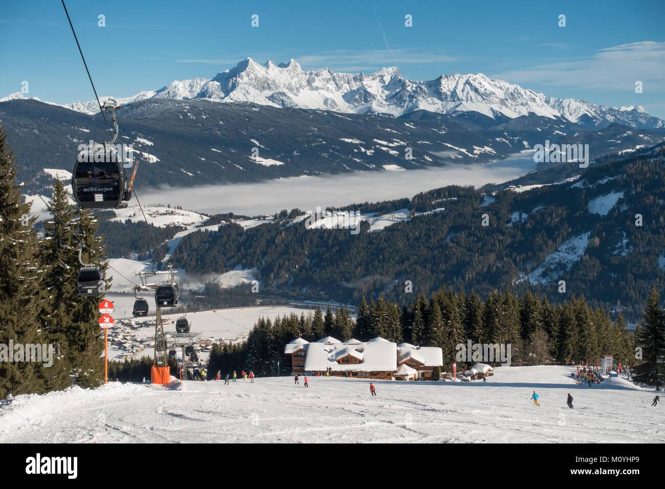 Ski Slope With Lift At The Griesenkareck1991mregion Amadebehind Dachstein Massifcommunity Flachau