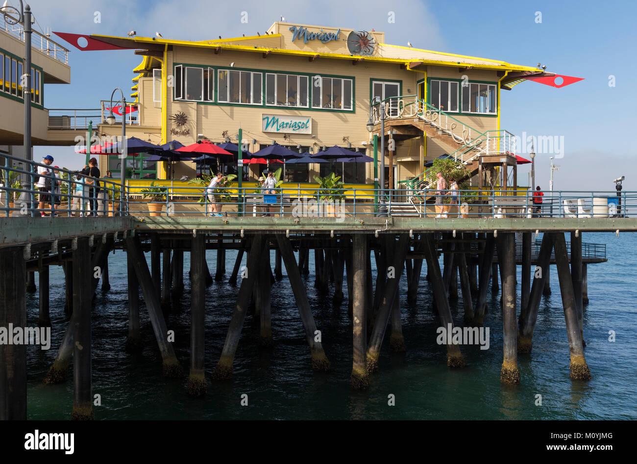 Mariasol Restaurant Santa Monica Pier California Stock Photo