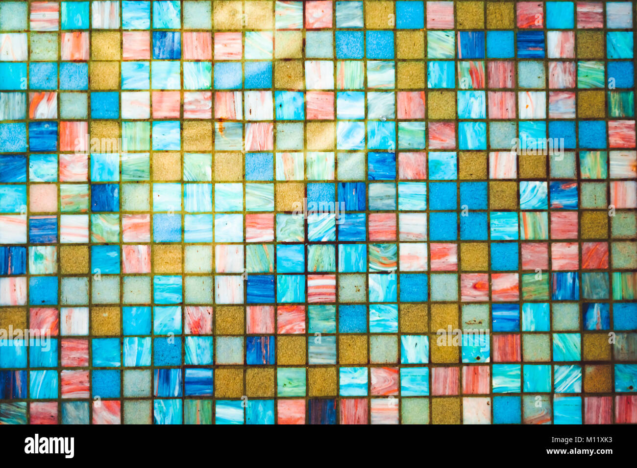 blue ceramic tile wall texture ideal for a background and used in ...