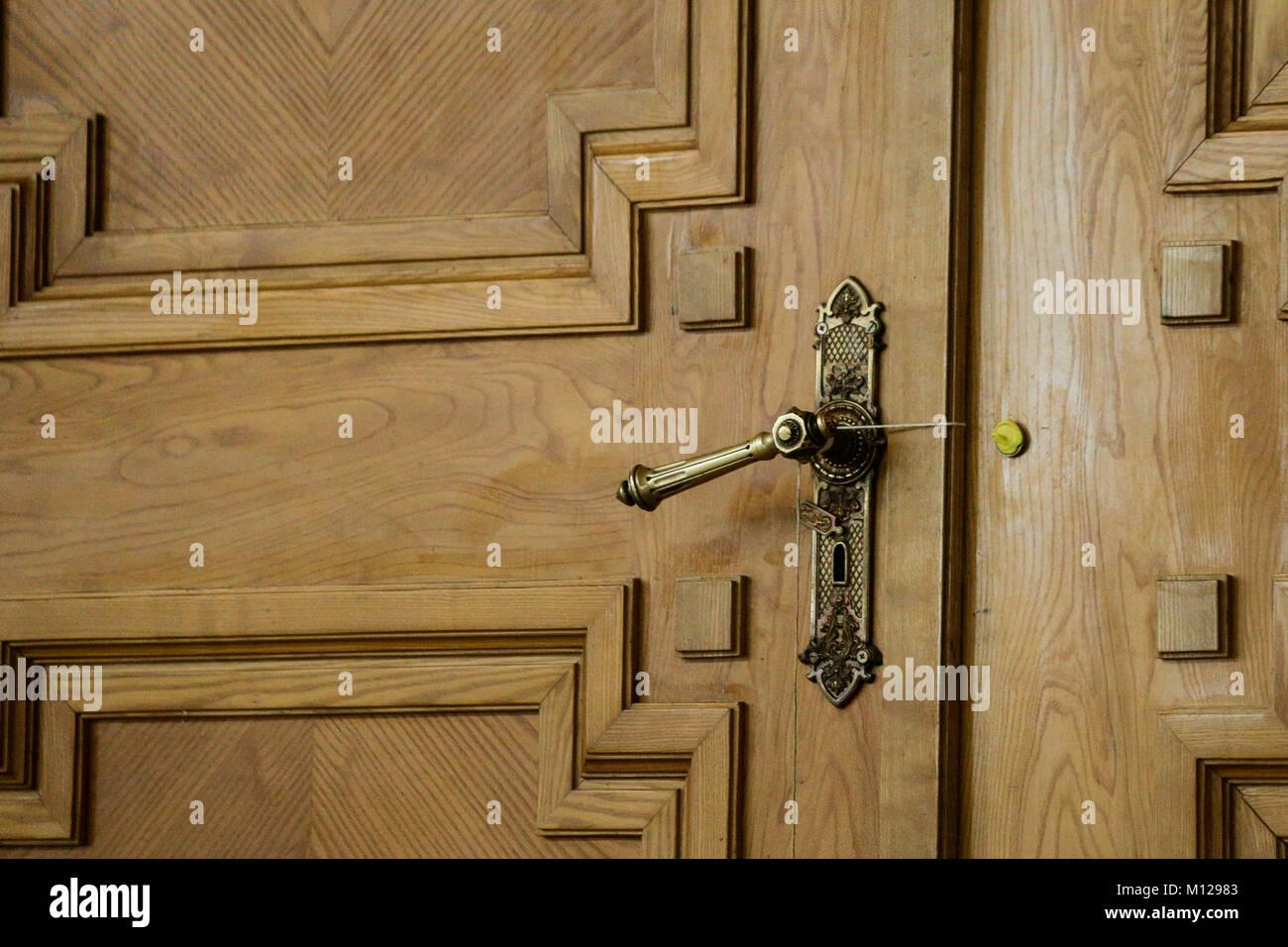 Broken wax seal on wooden door & Broken wax seal on wooden door Stock Photo Royalty Free Image ...