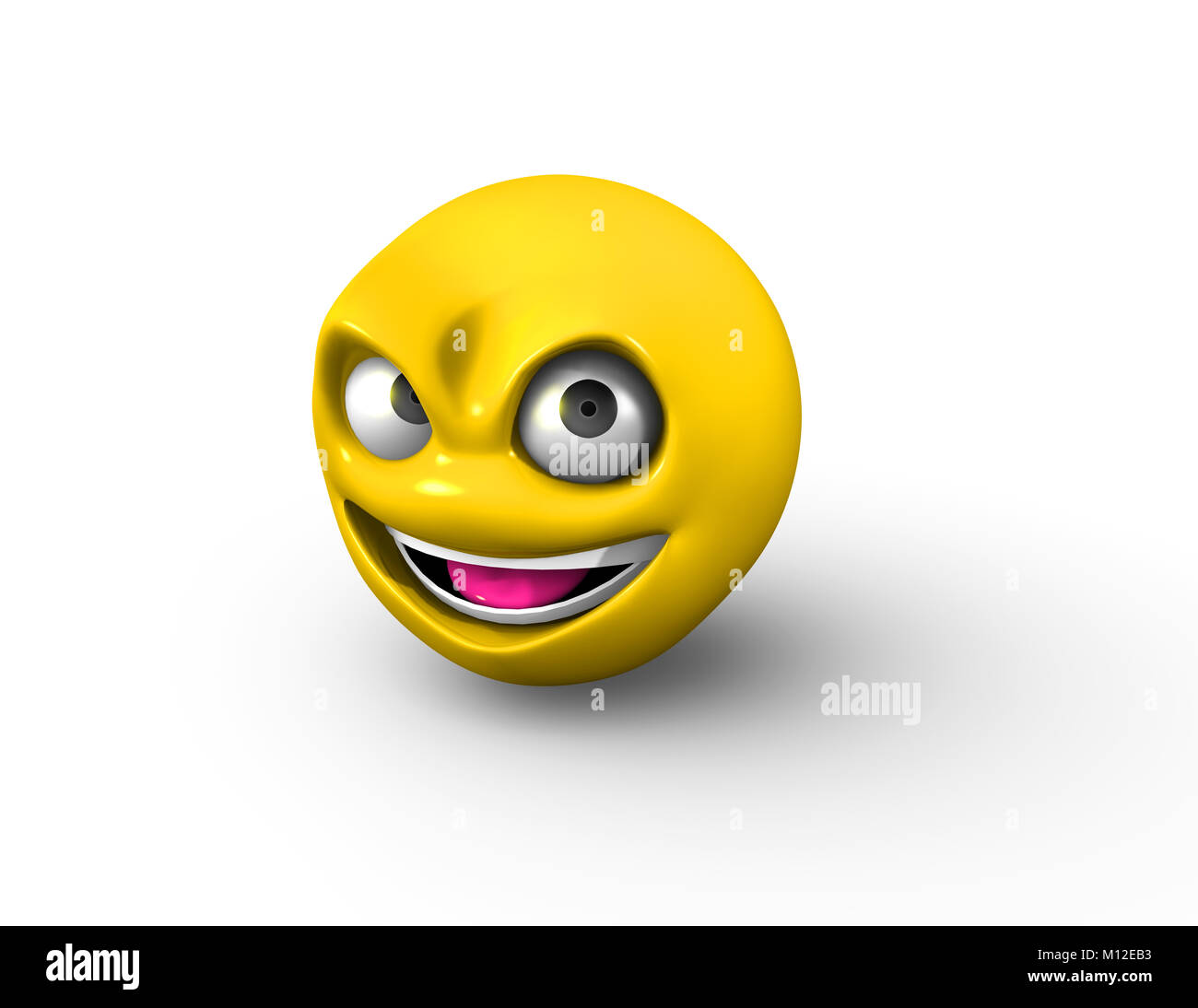 Vector illustration cartoon devil face stock photos vector 3d naughty emoji with frown stock image biocorpaavc