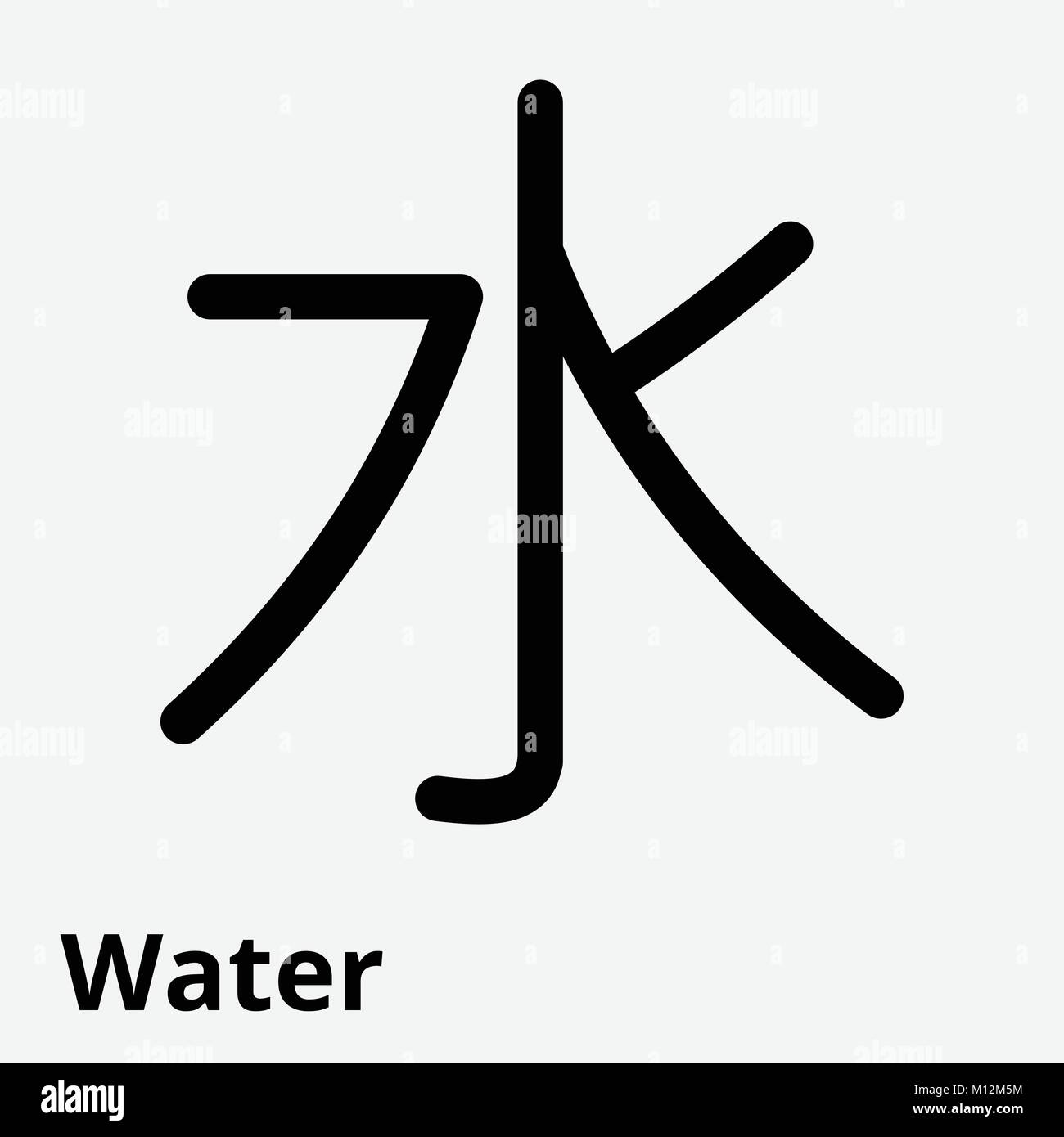 Vector illustration of the sign of chinese philosophy of the vector illustration of the sign of chinese philosophy of the symbol of confucianism line icon water biocorpaavc Images