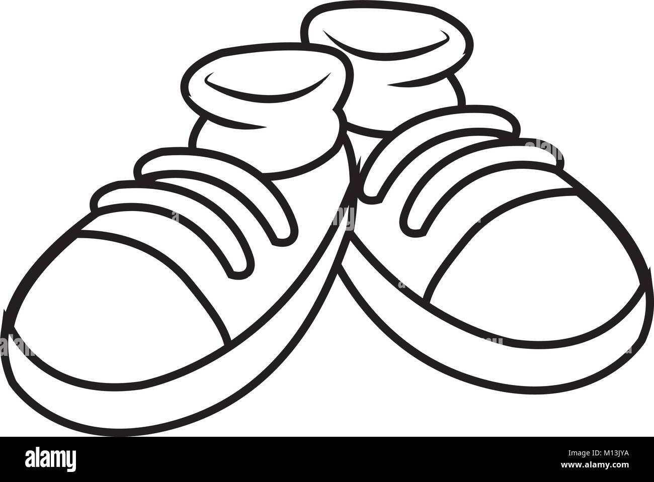 pair of shoes cartoon stock vector art illustration vector image
