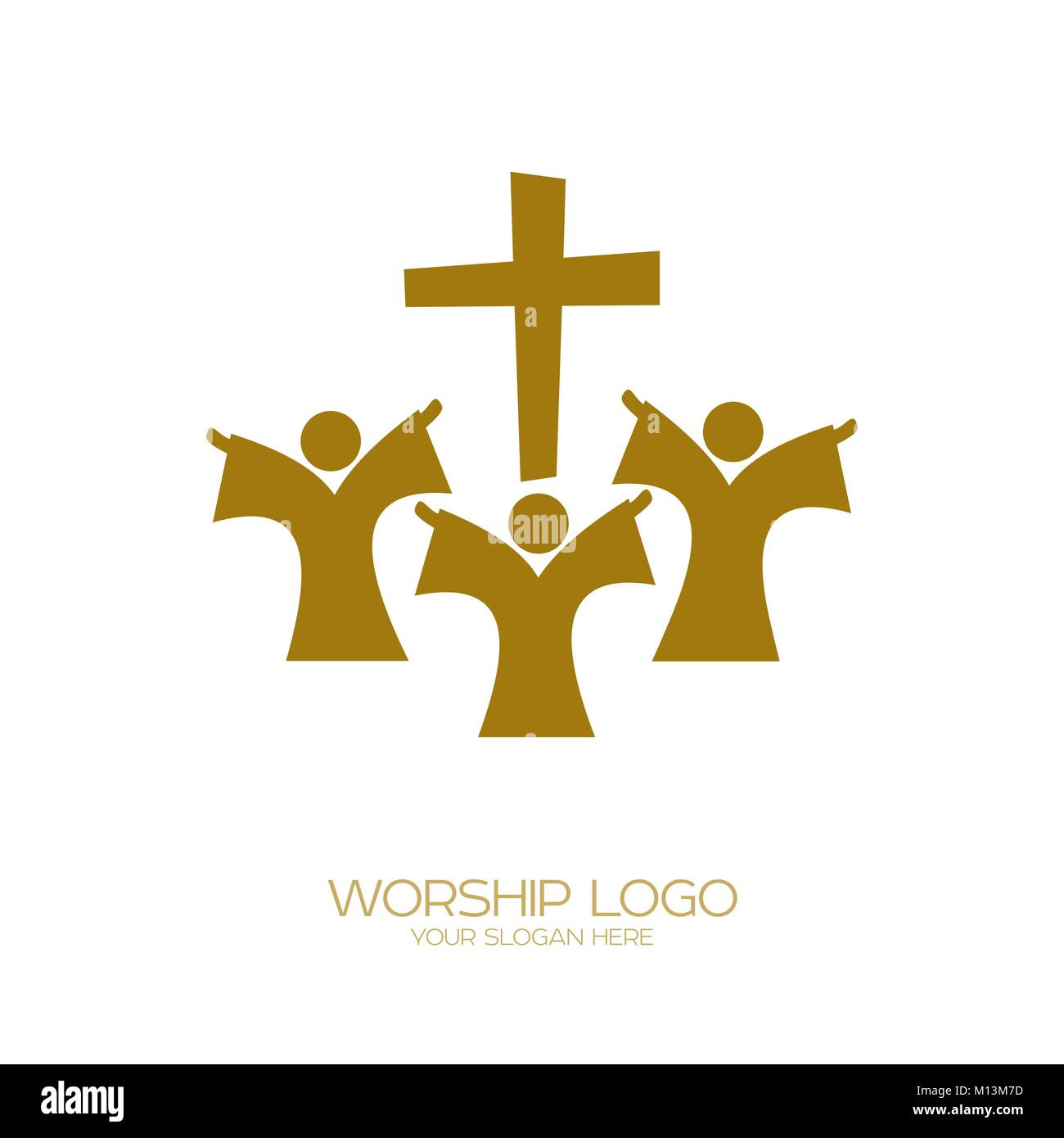 Music logo christian symbols people worship jesus christ stock christian symbols people worship jesus christ buycottarizona Image collections