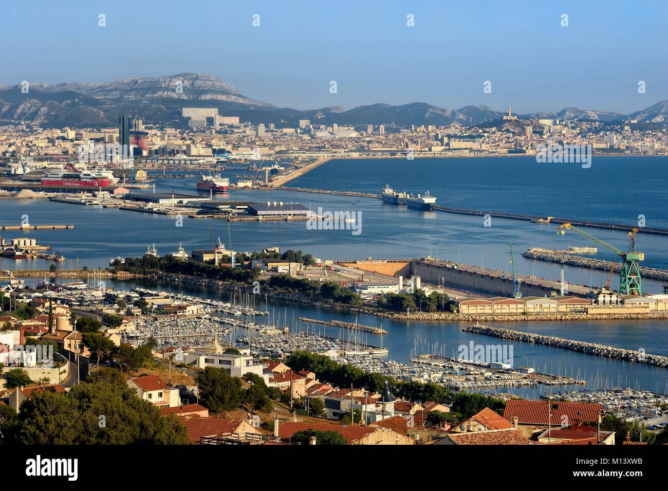 South east of france stock photos south east of france - Port maritime marseille ...