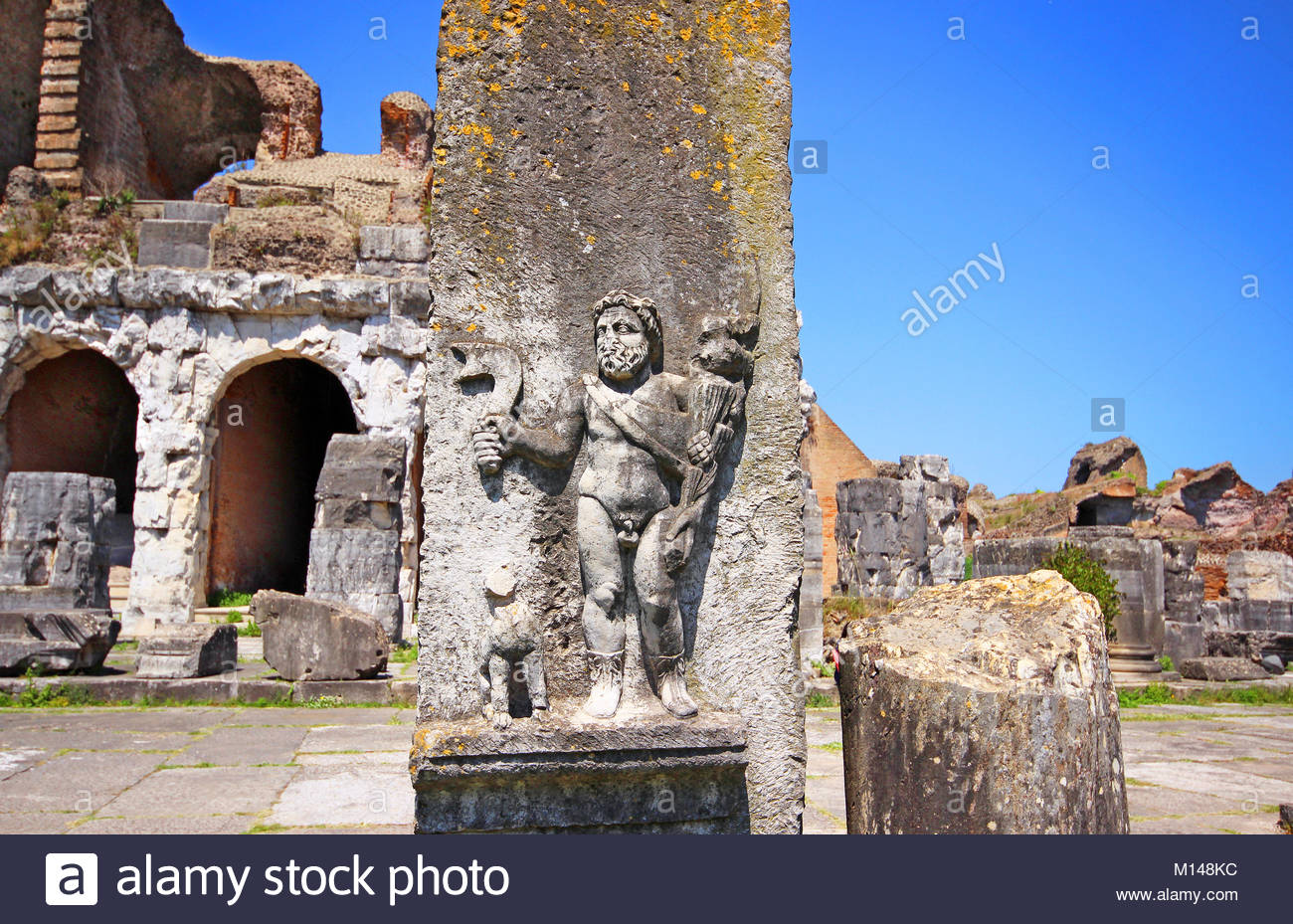 roman amphitheatre of capua stock photos roman