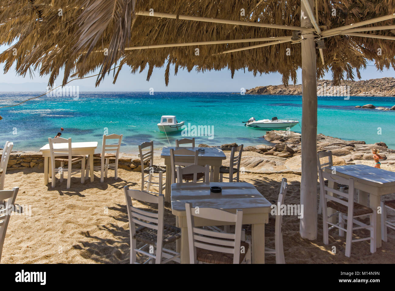 Best Island Beaches For Partying Mykonos St Barts: Paradise Beach, Mykonos, Greece Stock Photos & Paradise
