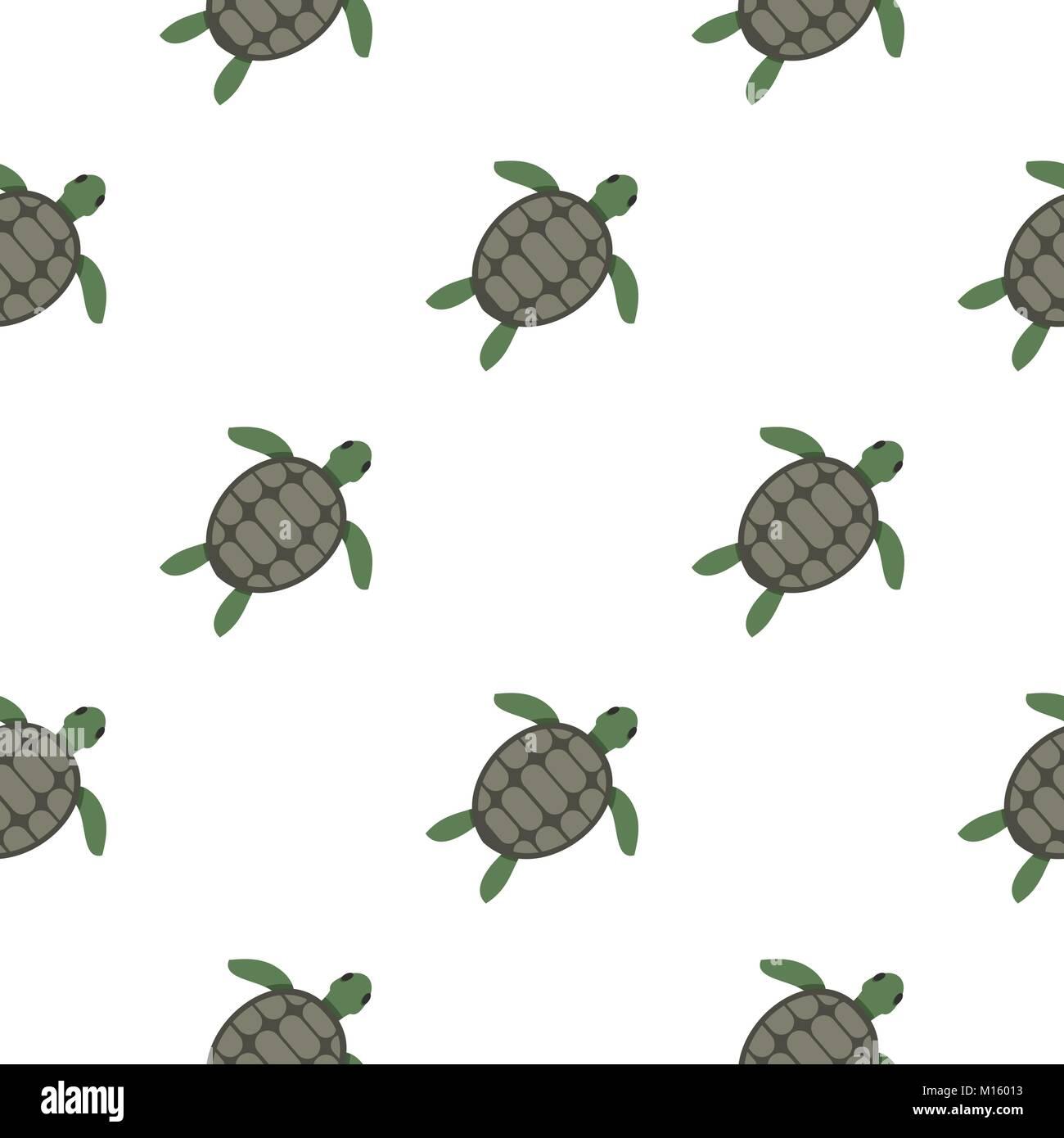 green sea turtle pattern seamless stock vector art illustration