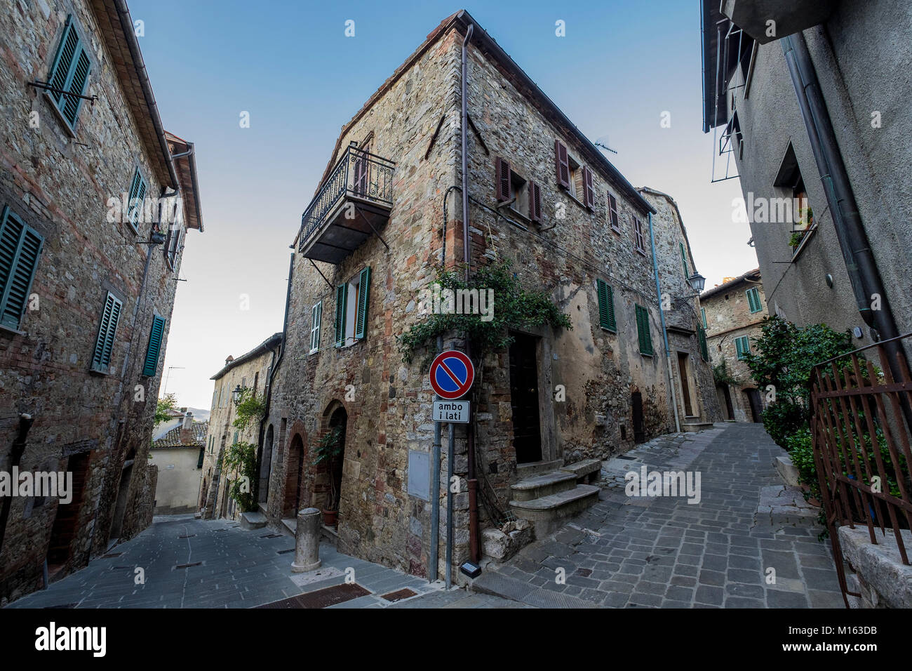 A view of the village of San Casciano dei Bagni, Italy. San Casciano ...
