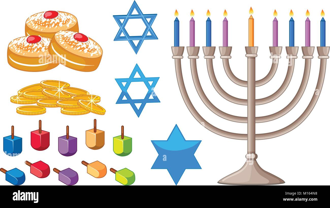 Jewish symbols stock photos jewish symbols stock images alamy happy hanukkah elements with jewish symbols illustration stock image buycottarizona Images