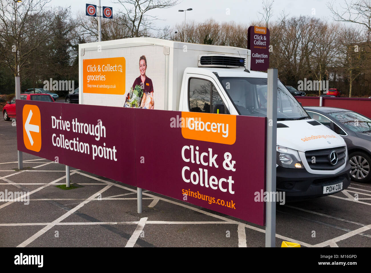 sainsbury 39 s delivery van stock photos sainsbury 39 s delivery van stock images alamy. Black Bedroom Furniture Sets. Home Design Ideas