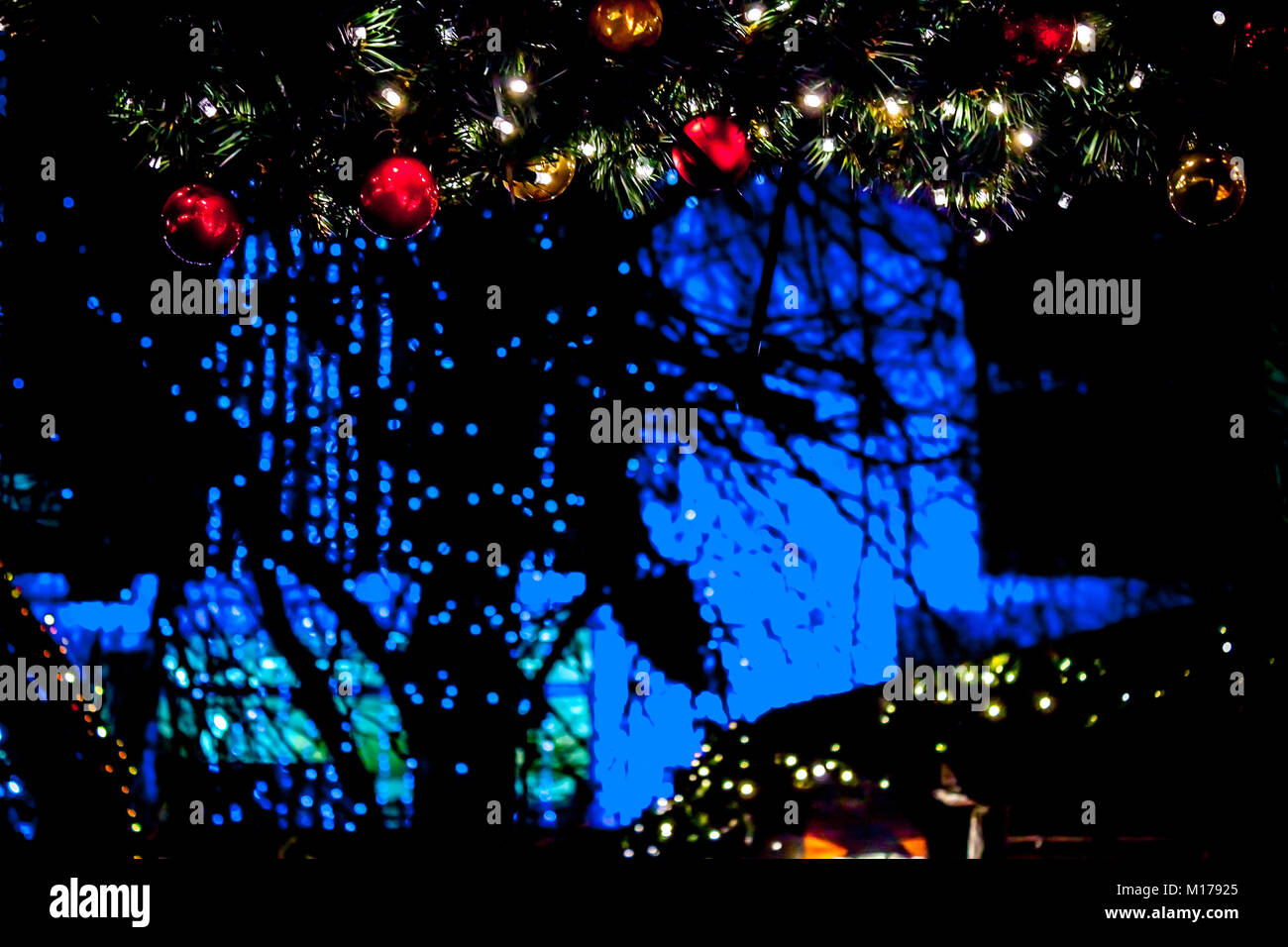 outside christmas lights and decorations at night edinburghs christmas market princes street gardens edinburgh scotland - Outside Christmas Tree Lights Decorations