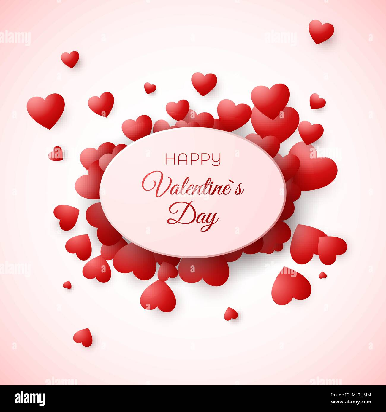 Greeting Card Of Valentines Day Amour And Love Symbol The Holiday