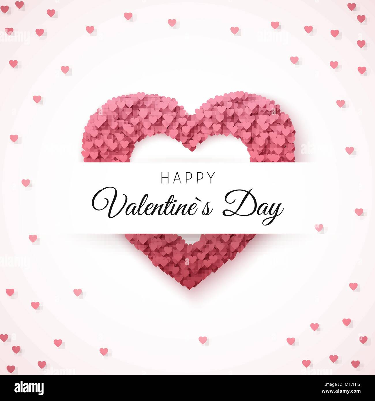 Happy Valentines Day Greeting Card Greeting Card Template Heart