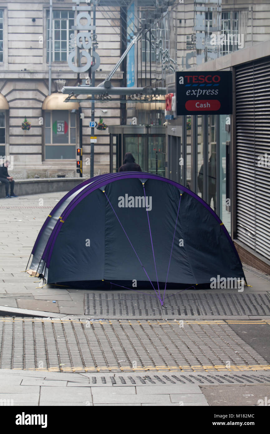 A homeless man has set up his tent & Homeless Tent Stock Photos u0026 Homeless Tent Stock Images - Alamy
