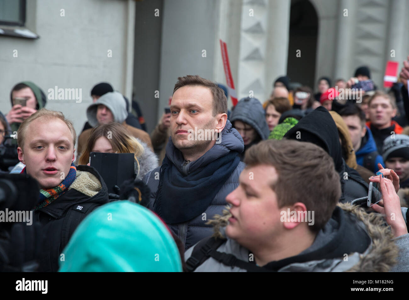 How supporters of Navalny in Moscow went on strike 77