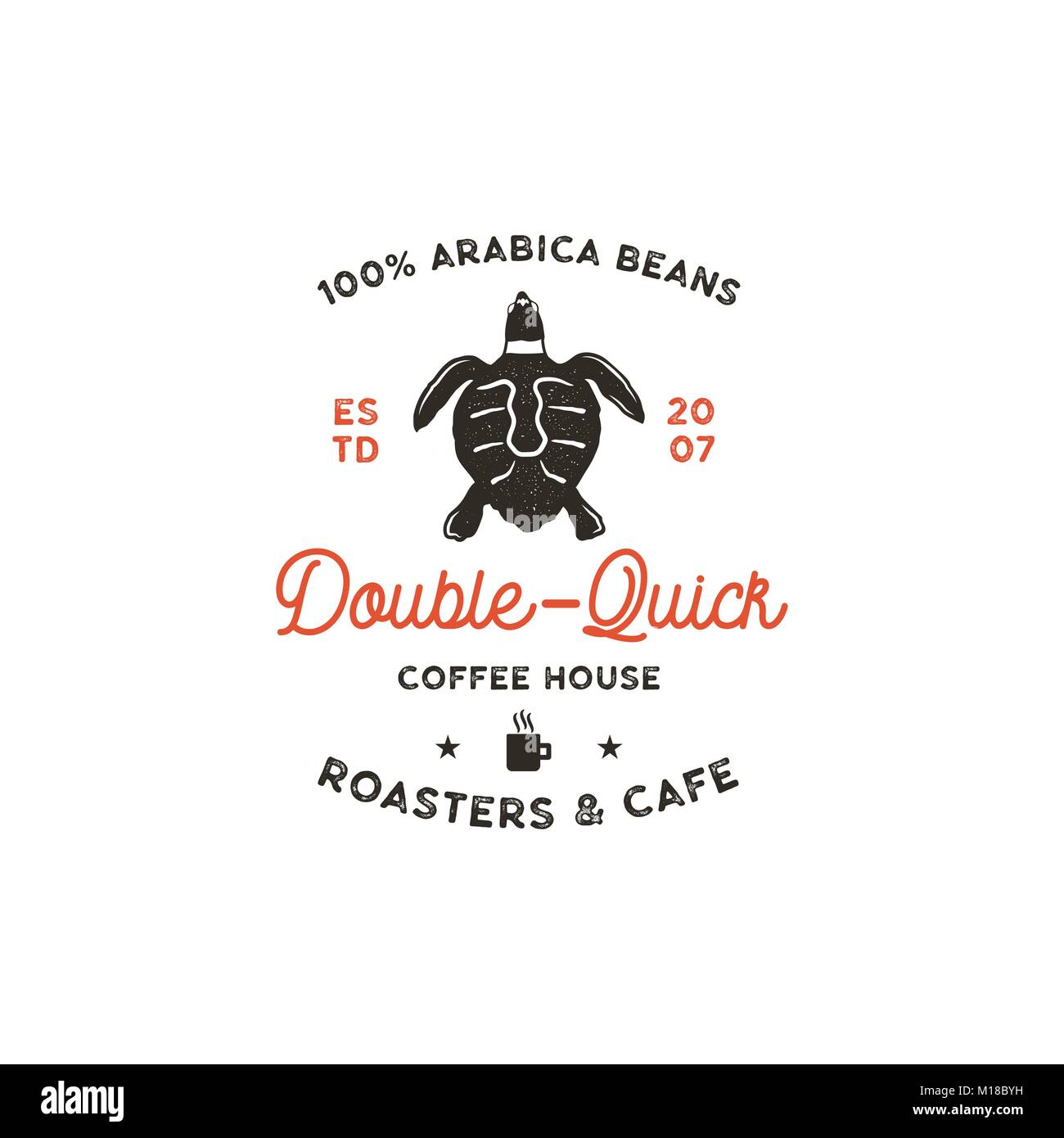 Roasters and cafe logo template with turtle cup silhouette symbol roasters and cafe logo template with turtle cup silhouette symbol wild animal icon biocorpaavc