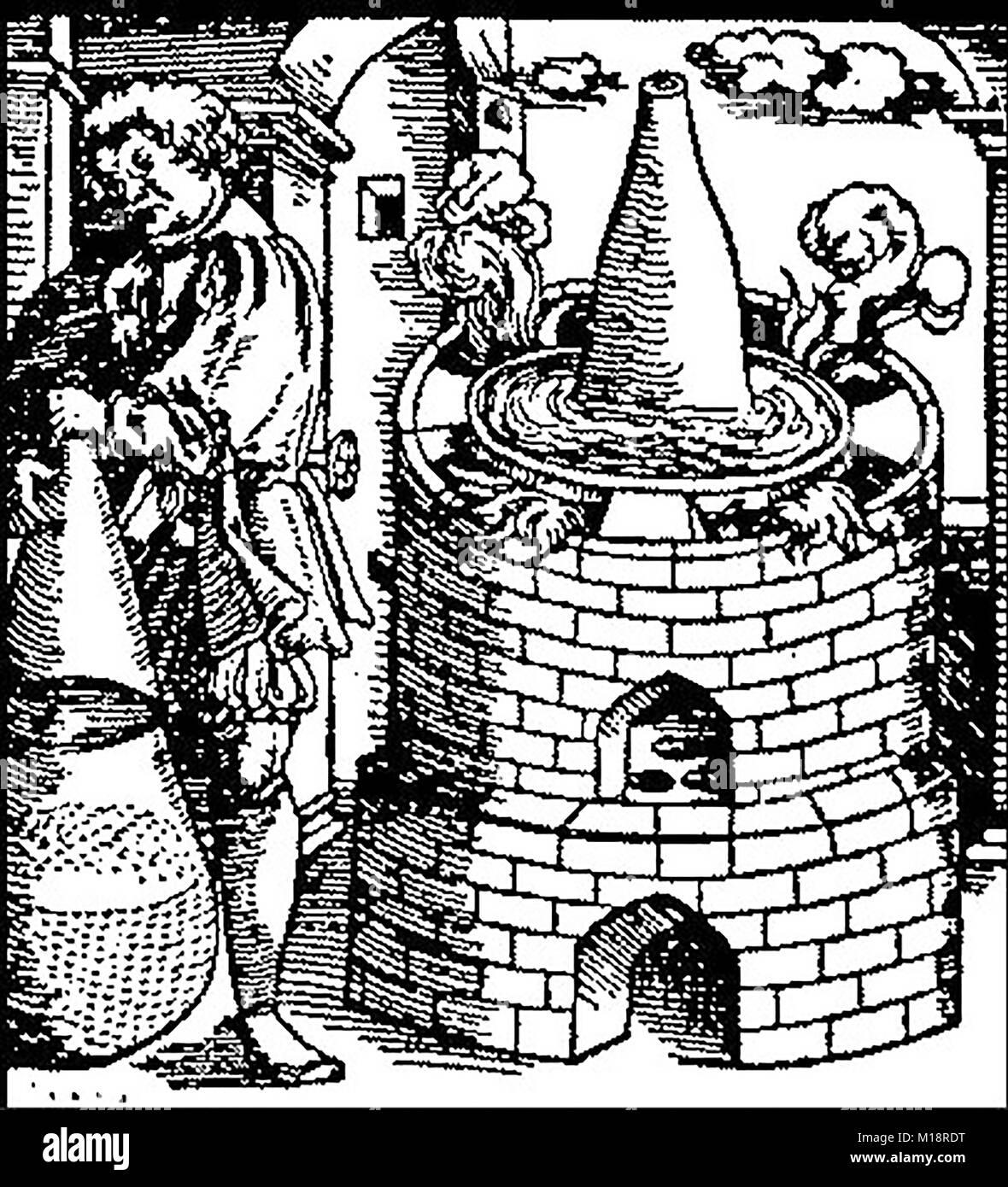 Magic,Mysticism & Alchemy - A medieval Bain-Marie (Mary\'s Bath) used ...