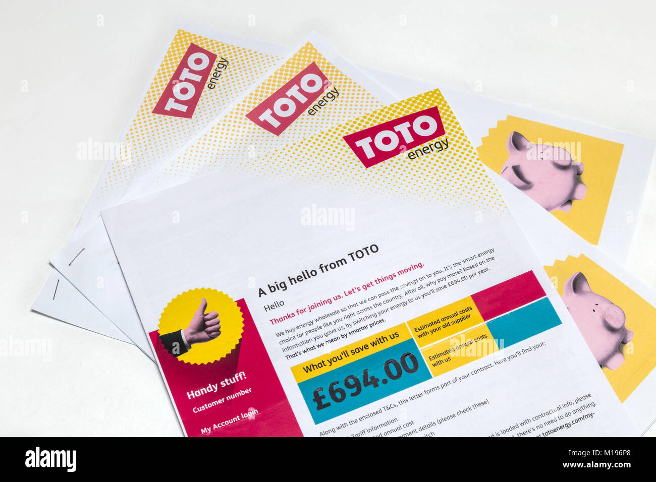 TOTO energy literature.Toto, a small supplier based in Brighton ...