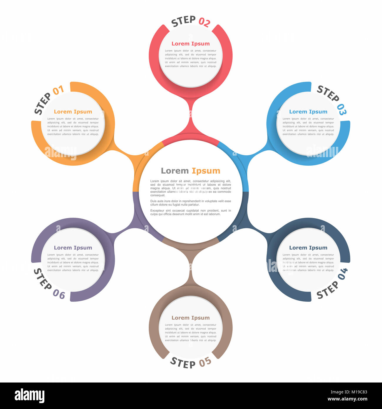 Circle diagram with six elements steps or options flowchart or circle diagram with six elements steps or options flowchart or workflow diagram template vector eps10 illustration ccuart Images