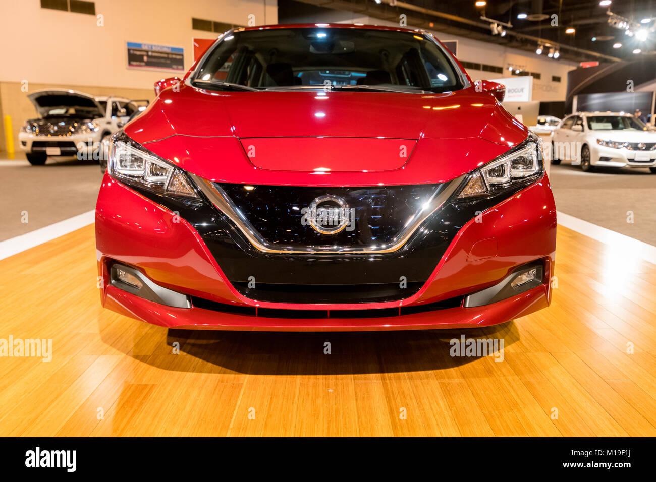 HOUSTON TX JANUARY All New Nissan LEAF EV Electric - Houston car show 2018