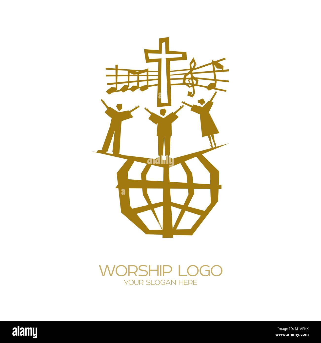 Music Logo Christian Symbols People Of All Nations And Stock
